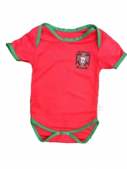 Baby Portugal Red Soccer Infant Crawl Suit 2018