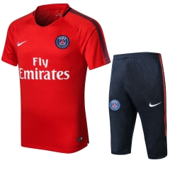 Paris Red Short Training Suit 2018
