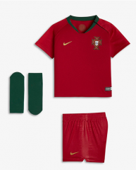 Youth Portugal Home Soccer Jersey Full Kits 2018 ,Jersey+Shorts+Sock