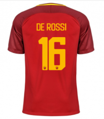 AS Roma #16 DE ROSSI Home Soccer Jersey 2017-2018
