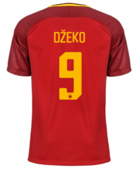 AS Roma #9 DZEKO Home Soccer Jersey 2017-2018