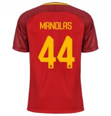 AS Roma #44 MANOLAS Home Soccer Jersey 2017-2018