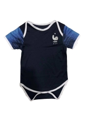 Baby France Black Soccer Infant Crawl Suit 2018