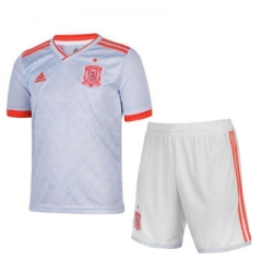 2018 World Cup Spain Away White Soccer Uniform