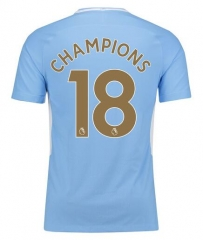 Manchester City #18 Champions Soccer Jersey 2017-2018
