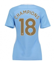 Manchester City #18 Champions Women's Jersey 2017/18