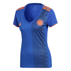 2018 World Cup Colombia Away Blue Women's Soccer Shirt