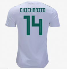 2018 Mexico #14 CHICHARITO Away Soccer Jersey Shirts