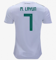 2018 Mexico #7 M.  LAYUN Away Soccer Jersey Shirts