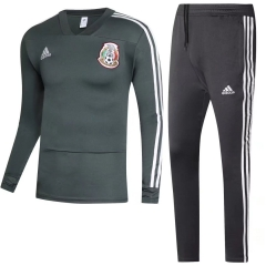 Youth Mexico Green World Cup 2018 V Neck Training Suit