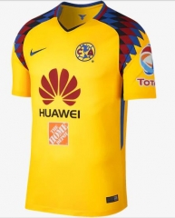 Club America Third Away Yellow Soccer Jersey Shirt 2017-2018