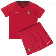 2018 Youth World Cup Portugal Home Red Soccer Uniform
