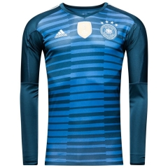 Germany Blue World Cup 2018 Goalkeeper Long Sleeve Jersey