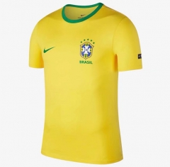 2018 World Cup Brazil Yellow Cotton T-shirt