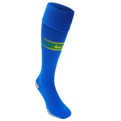 2018 Brazil Away Blue Soccer Sock