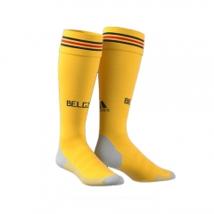 2018 Belgium Away Yellow Soccer Sock