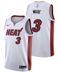 Dwyane Wade #3 Nike Miami Heat Swingman Icon Jersey - White/Black
