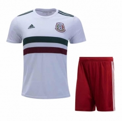 2018 Youth World Cup Mexico Away White Soccer Uniform