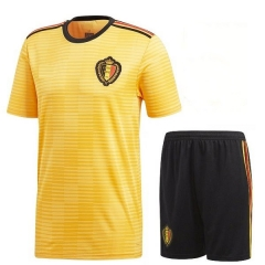 2018 Youth World Cup Belgium Away Yellow Soccer Uniform