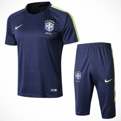 Brazil Blue Short Training Suit 2018