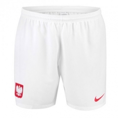 2018 Men's Poland Home White Shorts