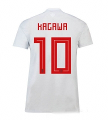 #10 Kagawa 2018 World Cup Japan Away Gray Soccer Jersey