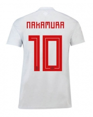#10 	Nakamura 2018 World Cup Japan Away Gray Soccer Jersey