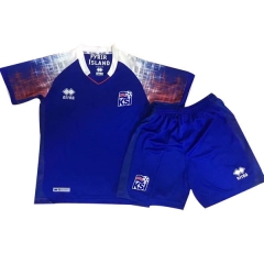 2018 Youth World Cup Iceland Home Blue Soccer Uniform