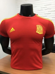 2018 World Cup Spain Red Cotton T-shirt