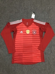 Germany Red World Cup 2018 Goalkeeper Long Sleeve Jersey