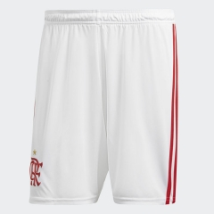 2018 Men's Flamengo Home White Shorts