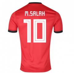 Egypt #10 M.SALAH Home World Cup Red Soccer Jersey Shirt  2018