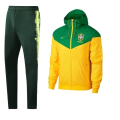 Brazil National Team Windbreaker Full-Zip Jakcet Suit 2018