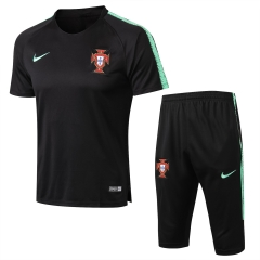 Portugal Black Short Training Suit 2018