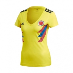 2018 World Cup Colombia Home Yellow Women's Soccer Shirt