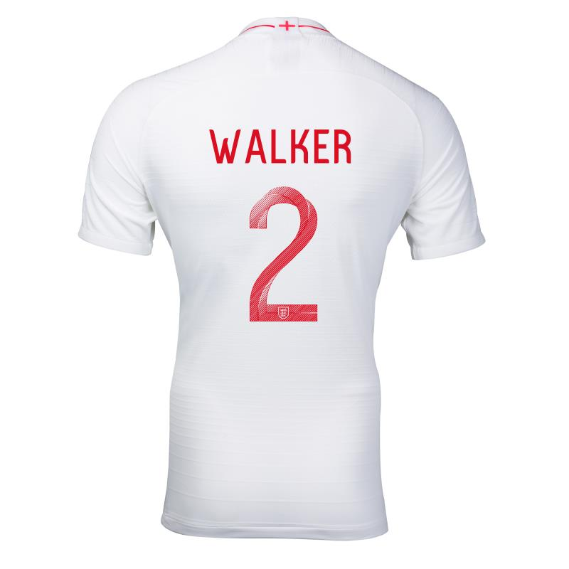 England #2 WALKER World Cup 2018 Soccer Jersey