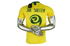 Joe Soccer 2018 World Cup Brazil Home Yellow Soccer Jersey
