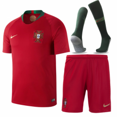 Adult Portugal Home Soccer Jersey Full Kits 2018 ,Jersey+Shorts+Sock