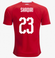 2018 Switzerland #23 SHAQIRI Soccer Jersey Shirt