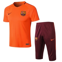 Barcelona Orange Short Training Suit 2018
