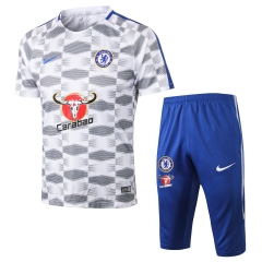 Chelsea Grey White Short Training Suit 2018