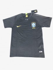 Brazil Goalkeeper Black Soccer Jersey Shirt 2018-2019