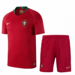 2018 World Cup Portugal Home Red Soccer Uniform