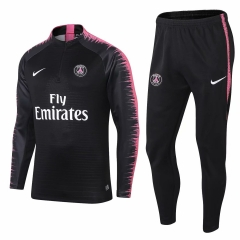 Youth Paris Black Training Suit 2018