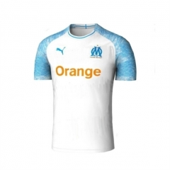 2018 Marseille Home White Soccer Shirt Jersey (Picture Version)