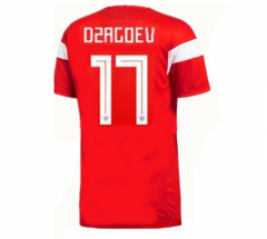 2018 Russia #17 Dzagoev Home Red Soccer Jersey Shirts