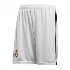 2018-2019 Men's Real Madrid Home White Shorts
