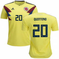 2018 Colombia #20 QUINTERO Juan Soccer Jersey Shirts