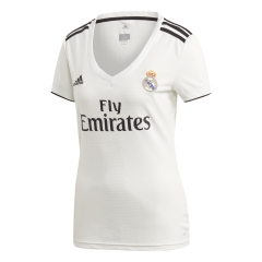 2018-2019 Real Madrid Home White Women's Soccer Jersey