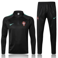 Youth Portugal Black Training Suit 2018